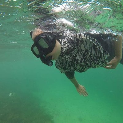 Tudong Girl Snorkeling At Sapi Island