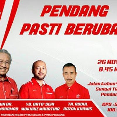 Tun M Dato Seri Mukhriz Gegar Pendang 26 November Ini