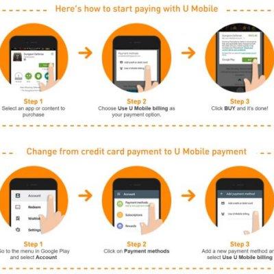 U Mobile Memperkenalkan Sokongan Pembayaran Google Play Store Menggunakan Bil Telekomunikasi