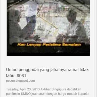 Umno Penggadai Yang Jahatnya Ramai Tidak Tahu 8061