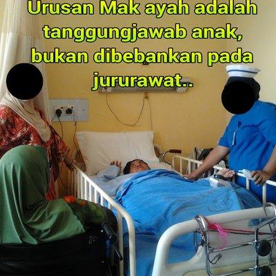 Urusan Mak Ayah Di Hospital Adalah Tanggungjawab Anak Bukan Pada Jururawat