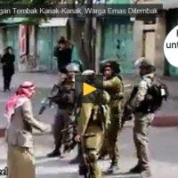 Video Lagi Kekejaman Israel Terhadap Palestin Seorang Warga Emas Ditembak