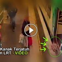Video Malang Tak Berbau Kanak Kanak Terjatuh Celah Laluan Lrt