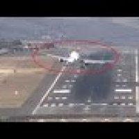 Video Pesawat Mendarat Dalam Ribut