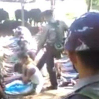 Video Polis Sempadan Myanmar Pukul Terajang Warga Rohingnya Viral