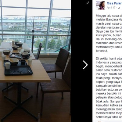 Wah Kita Bisa Dikira Norak Orang Indonesia Ini Viral Karena Mejanya Berantakan Usai Makan Di Tokyo