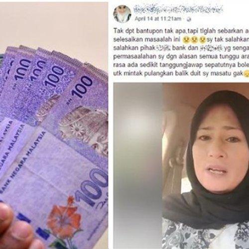 Wanita Terkejut Wang Pemberian Menteri Besar Dalam Akaun Bank Lesap
