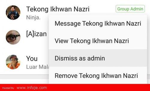 Whatsapp Beta Kini Membolehkan Anda Memecat Pentadbir Lain Dalam Whatsapp Group