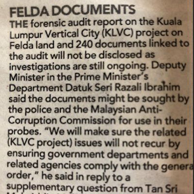 Why Felda Should Disclose Findings Of Forensic Audit Investigation
