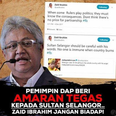 Zaid Ibrahim Biadap Pertikai Titah Sultan Selangor