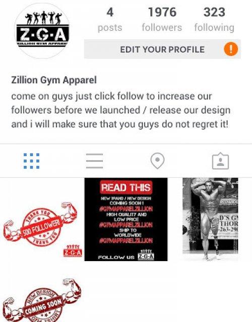 Zillion Gym Apparel